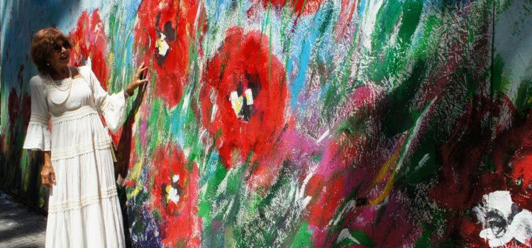 Mohnblumen im Wind – Kunstwerk von Karen Thomas